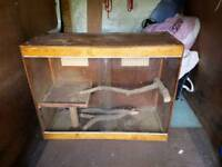 Large handmade vivarium 4x3x2 with branches and shelf