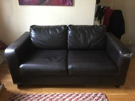 2 seater faux leather sofa-bed