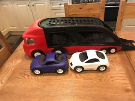 Little tikes transporter with cars