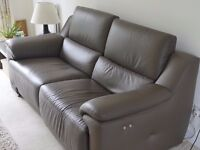 Leather electric recliner sofa in Brown