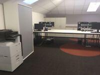 2 x 6man office bench desks