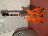 FANTASTIC THINLINE ARCHTOP ELECTRIC/ACOUSTIC GUITAR! DEAD RINGER FOR GRETSCH.