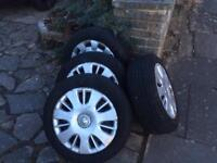 VAUXHALL WHEELS WITH TYRES SIZE 15 corsa zafira astra tyres
