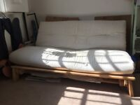 Futon - 2 person Sofa Bed. Solid Pine wood.
