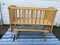 Mothercare Glider Crib Deluxe - Natural