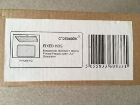 Brand new, boxed fixed head, rain shower head Crosswater Essence chrome 320x210x20mm