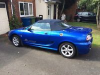 FOR SALE 2004 BLUE METALLIC MG TF 135 1.8 vvc 1796 bhp CONVERTABLE only 52,000 miles.