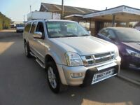 2007 57 isuzu rodeo denver double cab 3.0 t/diesel automatic, 103,000, NO VAT, 30 + cars in stock.