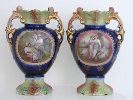 two antique vases