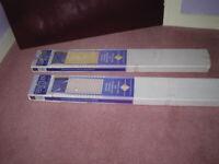 "Two Venetian blinds: 183cm (72"") wide & 76cm (30"") wide; both 152cm (60"") drop."