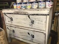 Chest of drawers hook handles storage - shabby chic