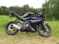Yamaha YZF-R125, Glossy Black, 2009, 13300 miles