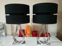 2 lamps chrome finish
