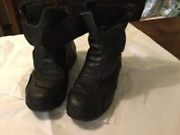 Motor cycle boots and padded Hein Gericke motor cycle gloves