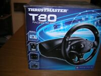 T80 Racing Wheel Compatible with PS3/PS4.
