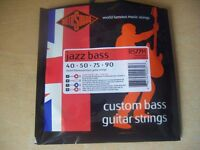 ROTOSOUND JAZZ BASS STRINGS-MEDIUM -PACKAGE OPEN-POSTAGE AND OFFERS MAY BE POSSIBLE