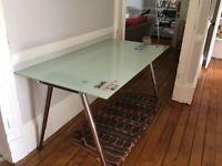 Glass Topped Desk