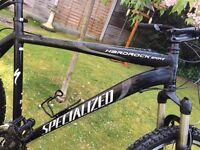 """Specialized Hardrock Sport Black Mountain Bike - 21"""" Frame 26"""" Wheels - London / Herts"""