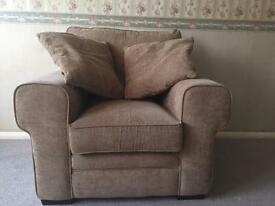 Immaculate armchair and cushions