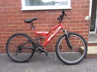 """Boy's 24"""" Wheel Red TRAX Bicycle Bike with NEW Tyre"""