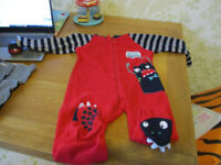 Age 2-3 Years Thin Fleece Sleepsuit
