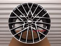 "K8* 4X NEW 18"" INCH ALLOYS ALLOY WHEELS BLACK 5X108 FORD RENUALT VOLVO CITREON JAGUAR PEUGEOT"