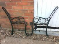 Vintage Cast Iron Garden Bench Ends A Pair