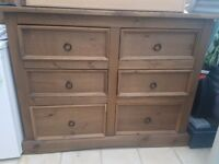 Mexican Pine Chest of drawers excellent condition