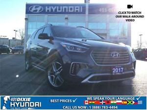 2017 Hyundai Santa Fe XL LTD|AWD|NAV|LEATHER|HEATED SEATS|PANO S