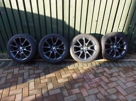 "BMW F30/F31 , 4 series style 398 18"" alloy wheels and tyres"