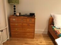 Gautier bedroom furniture. Two single beds, bedside cabinet, wardrobe, chest of drawers and desk,