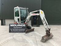 Takeuchi TB016 1.5t 2010 Full Cab. low hrs Expanding (NEW) Tracks Finance from £50*pw Plus VAT