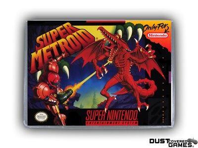 Super Metroid SNES Super Nintendo Game Case Box Cover Brand New Pro Quality!!!