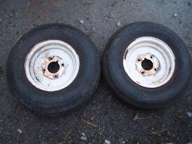5.00-10C / 6PR / VREDESTEIN SPEEDMASTER pair of trailer wheels