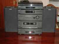 Sony HI-FI Sterio System including record deck, Radio, CD player and Tape player
