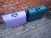 2 Carlton Hard Plastic Suitcases