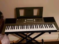 PSR-E353 digital keyboard with stand and stool
