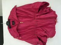 Ladies Pink Genuine Leather Jacket
