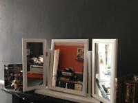 Dressing table Mirror in White