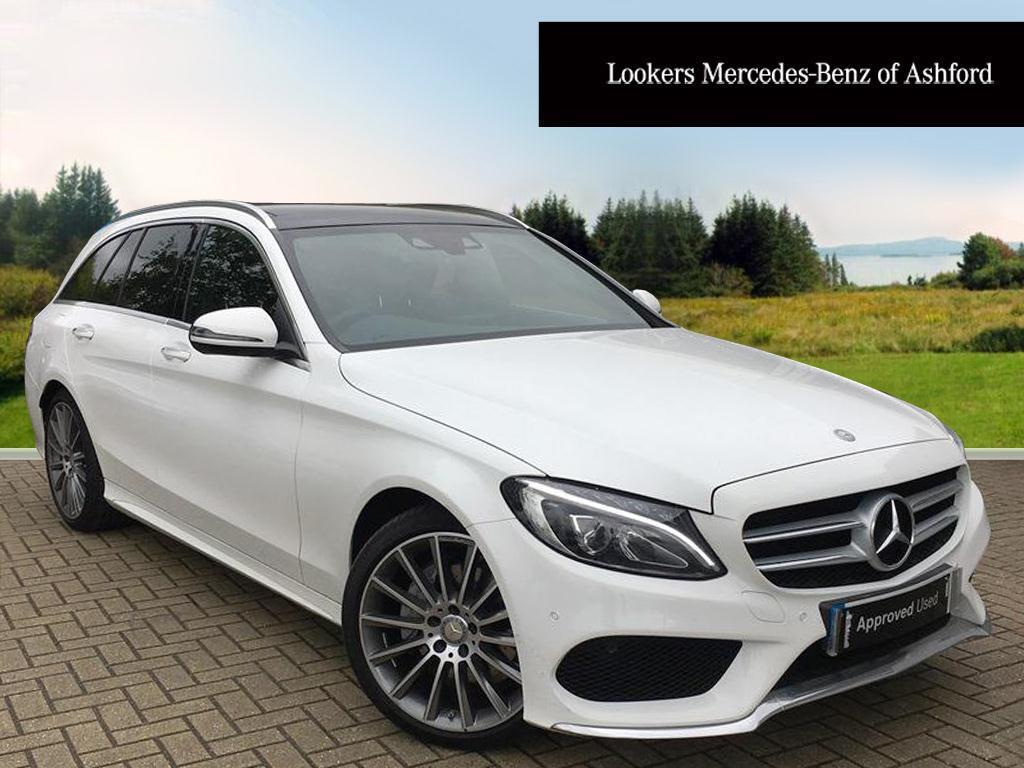 mercedes benz c class c220 d amg line premium white 2017 04 20 in ashford kent gumtree. Black Bedroom Furniture Sets. Home Design Ideas