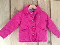 Age 12-18 months Joules pink padded coat