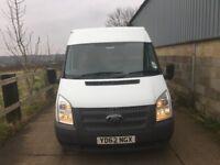ford transit medium wheel base medium roof.2012.choice of 3 vans.54k miles.1 owner