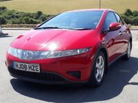 HONDA CIVIC 1.8 I-VTEC SE, 2008, 123K, FSH, MILANO RED, 6 SPEED, ALLOYS, CLIMATE A/C, CD, IMMACULATE