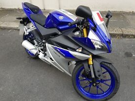 Immaculate Yamaha YZF R125 ABS 2016, very low mileage