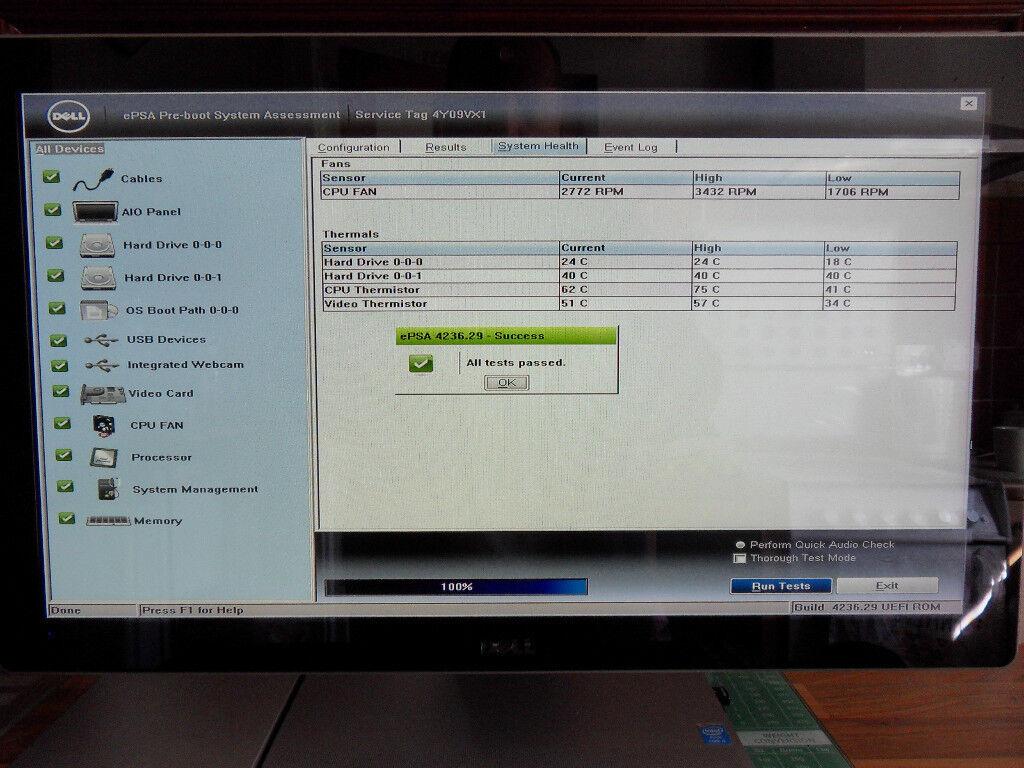 24 inch wide screen Dell Inspiron 2350 Windows 10 PC Intel i7 CPU 1TB Sata  & 128gb SSD (Bath BA2) | in Bath, Somerset | Gumtree
