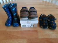 3 pairs infant boys shoes size 4