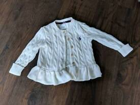 Ralph Lauren cream cardigan 18months