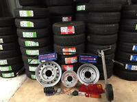 Trailer Wheels Tyres Rims Parts - Replacements For Ifor Williams Dale Kane Hudson Nugent Brian James