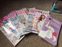 The wedding planner book by Carole Hamilton & 6 Bridal magazines