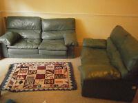 Free leather sofa 2 piece suite
